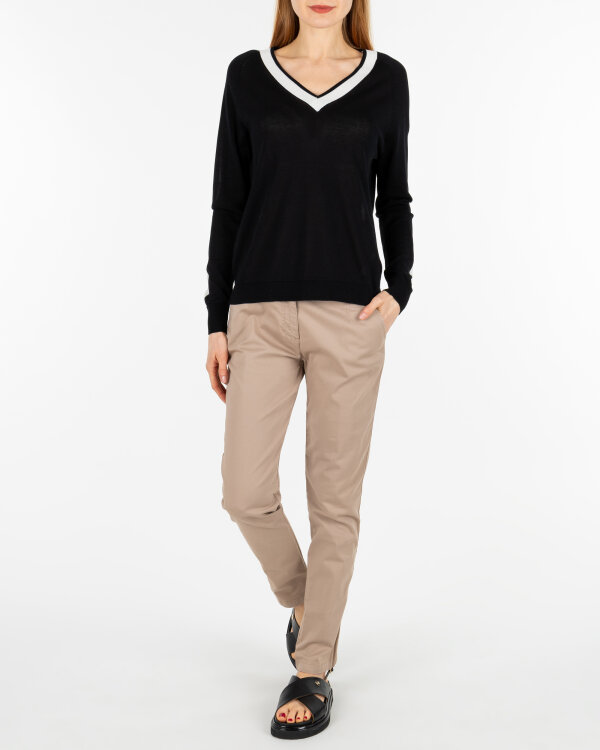 Sweter Sinéquanone K000824_REGLISSE/ECRU biały