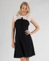 Sukienka Sinéquanone R003307B_REGLISSE/CANDY biały