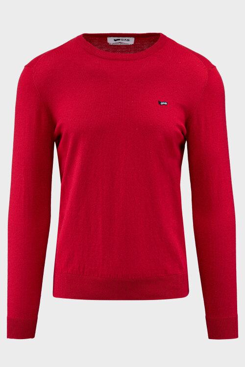 Sweter Gas 99972_AYRON/S R.COLLAR FR_0229 czerwony
