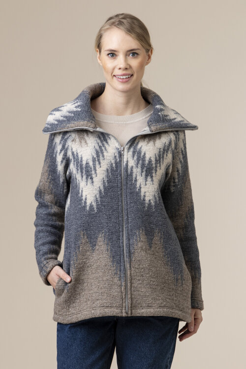 Sweter Malgrau 2092_MULTIKOLOR BEZ szary