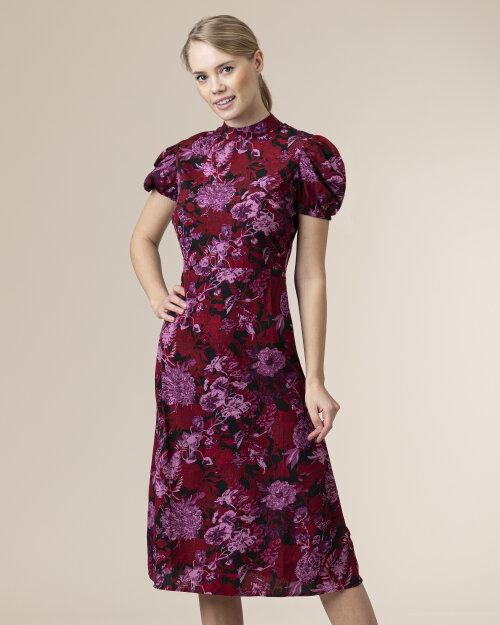 Sukienka Na-Kd 1018-006770_RED FLOWER czerwony