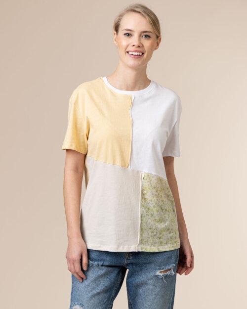 T-Shirt Na-Kd 1660-000231_MULTICOLOR biały