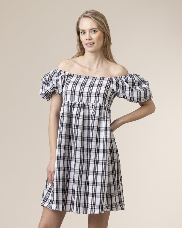 Sukienka Na-Kd 1018-006466_BLACK CHECK biały