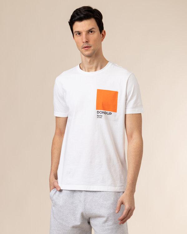 T-Shirt Dondup US198_JF0284U_000 biały
