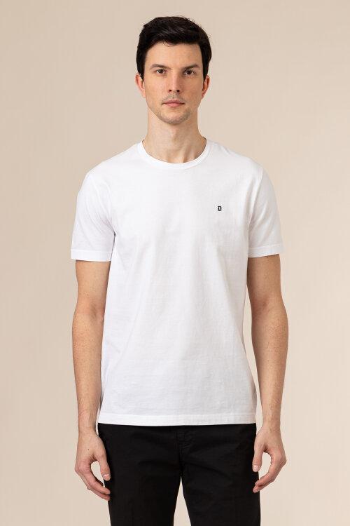 T-Shirt Dondup US198_JF0283U_000 biały