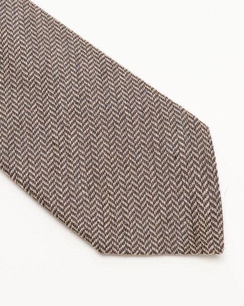 Krawat Stenstroms 913204_001 brązowy