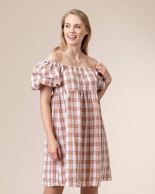 Sukienka Na-Kd 1018-006466_LIGHT BEIGE biały