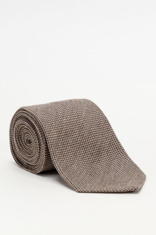 Krawat Stenstroms 913204_003 brązowy