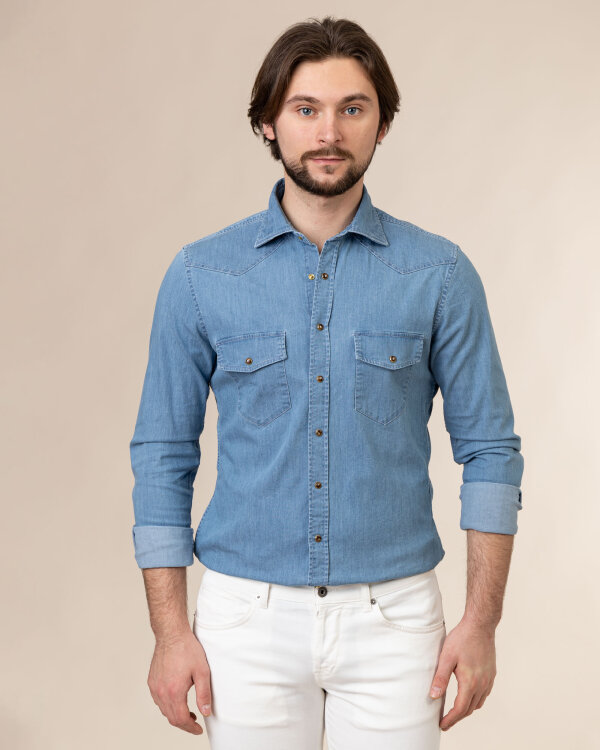 Koszula Stenstroms 778921_7995_810 niebieski