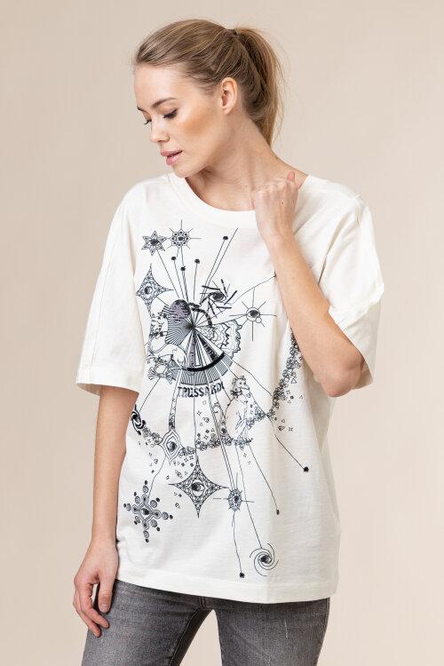 T-Shirt Trussardi Jeans 56T00333_1T005061_W009 Biały Trussardi Jeans 56T00333_1T005061_W009 biały