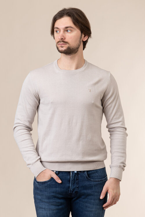 Sweter Trussardi Jeans 52M00477_0F000668_E030 beżowy