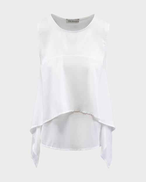 Bluzka Trussardi Jeans 56C00450_1T002799_W001 Biały Trussardi  56C00450_1T002799_W001 biały