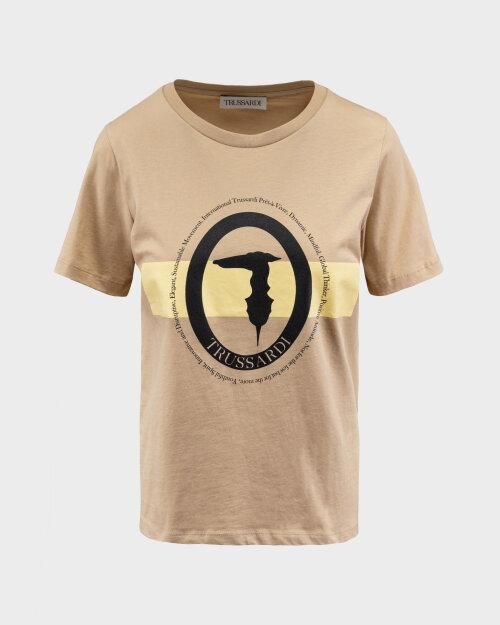 T-Shirt Trussardi  56T00328_1T005061_W105 beżowy