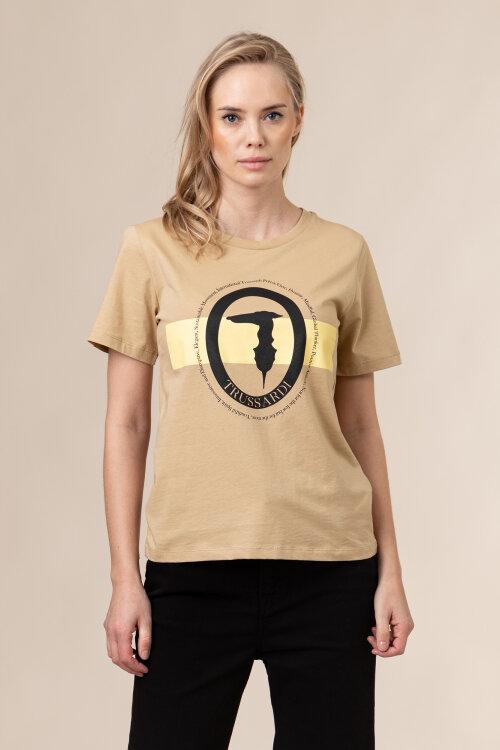 T-Shirt Trussardi Jeans 56T00328_1T005061_W105 beżowy