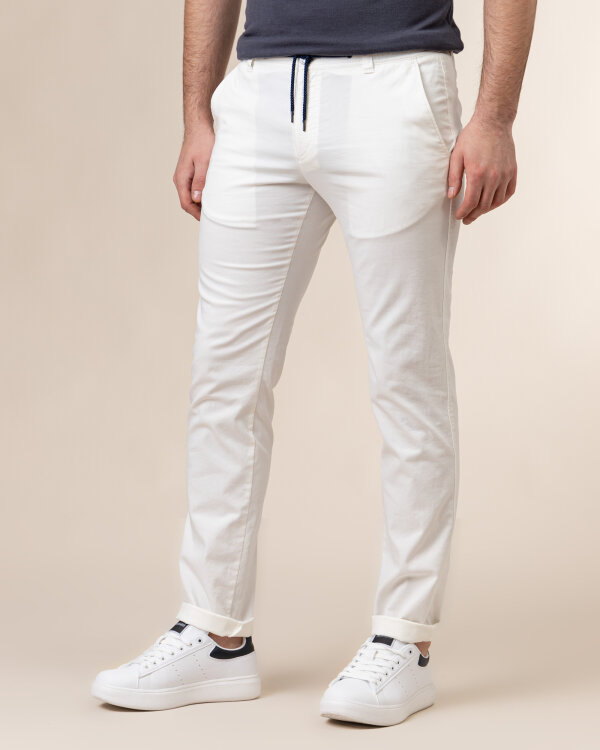 Spodnie Bugatti 76307_ 4100S_010 biały