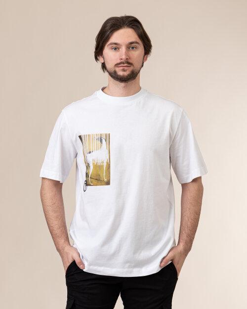T-Shirt Trussardi  52T00456_1T005053_W001 biały