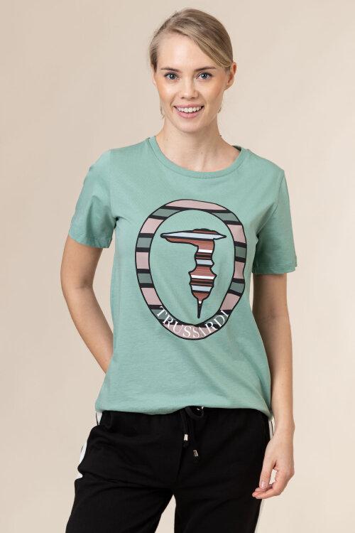 T-Shirt Trussardi Jeans 56T00371_1T005228_G217 zielony