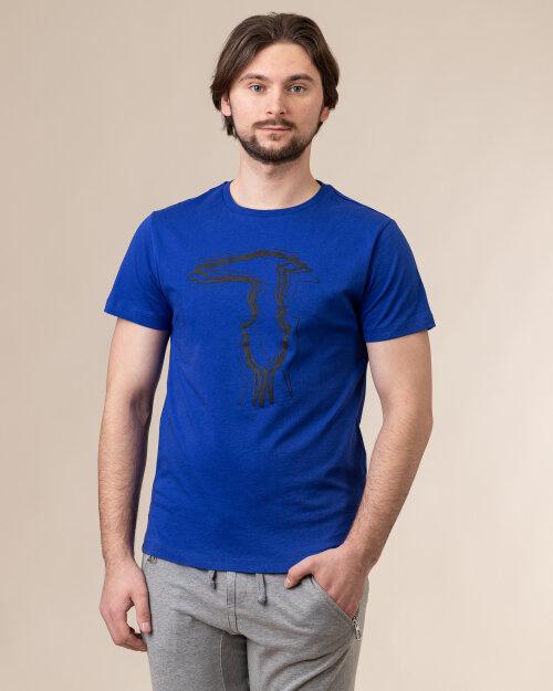 T-Shirt Trussardi  52T00502_1T003610_U260 niebieski