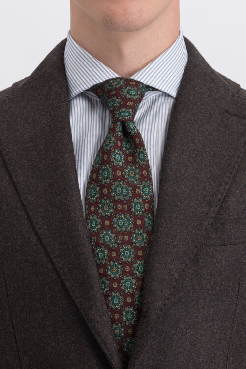 Krawat Stenstroms 913143_005 bordowy