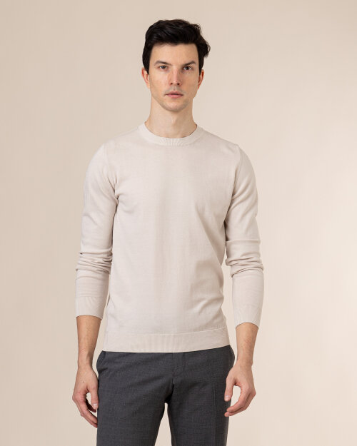 Sweter Oscar Jacobson CUSTER 6439_3918_916 beżowy