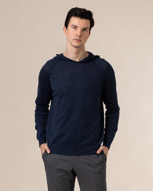 Sweter Oscar Jacobson PASCAL 6765_5644_223 granatowy