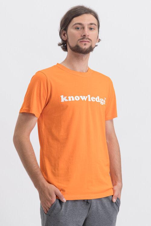 T-Shirt Knowledgecotton Apparel 10534_1277 pomarańczowy