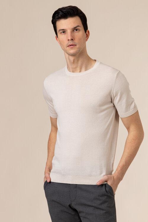 T-Shirt Oscar Jacobson BARTH 6848_3918_916 beżowy