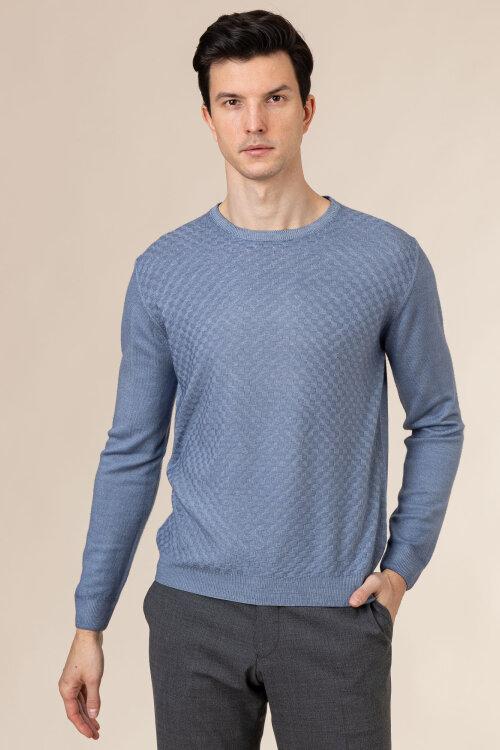 Sweter Oscar Jacobson MALTE 6782_5538_278 niebieski