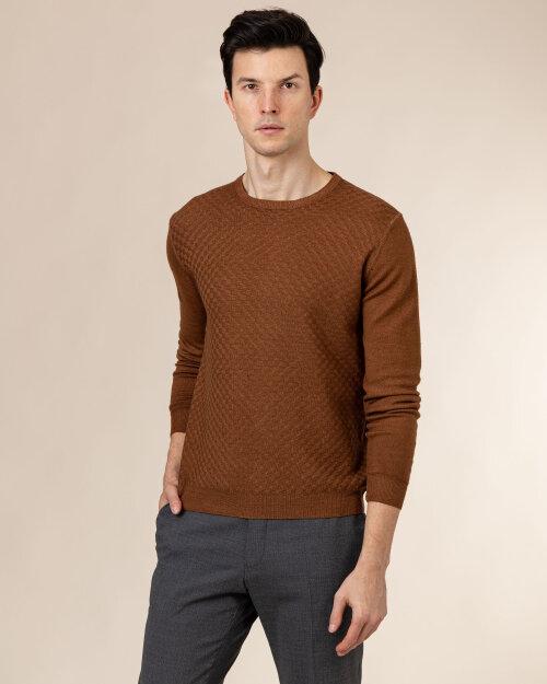 Sweter Oscar Jacobson MALTE 6782_5538_576 brązowy