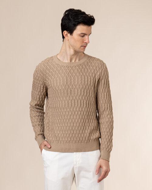 Sweter Oscar Jacobson FISHERMAN 6961_5633_444 brązowy