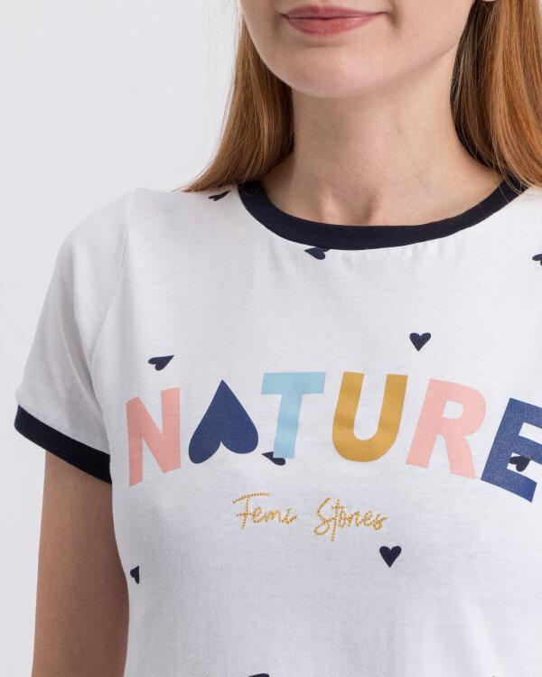 T-Shirt Femi Stories COSMA _WHT biały