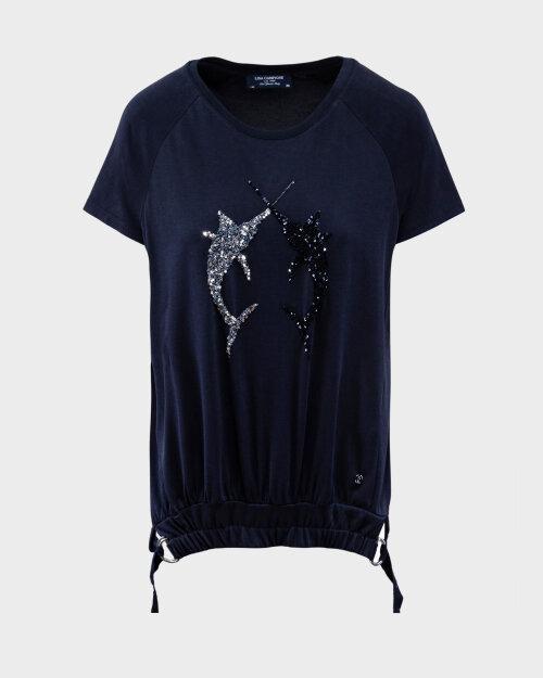 T-Shirt Campione 1683021_121130_85400 Granatowy Campione 1683021_121130_85400 granatowy