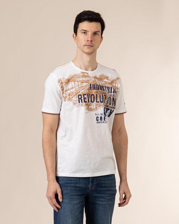 T-Shirt Campione 1098444_111130_40100 kremowy