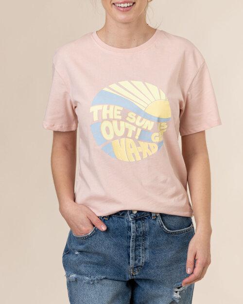 T-Shirt Na-Kd 1660-000227_PINK różowy