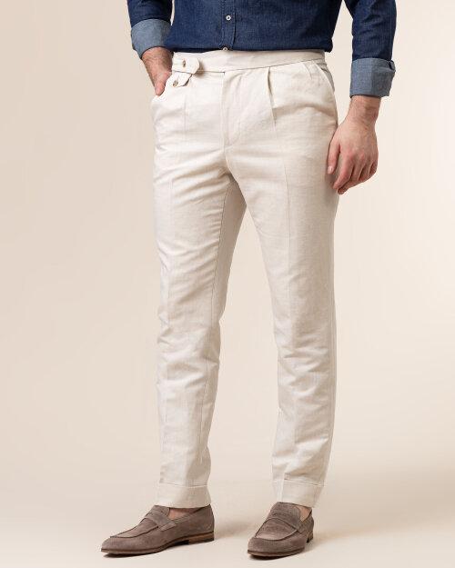 Spodnie Cavaliere 20SS21515_JERRY COMO_54 kremowy