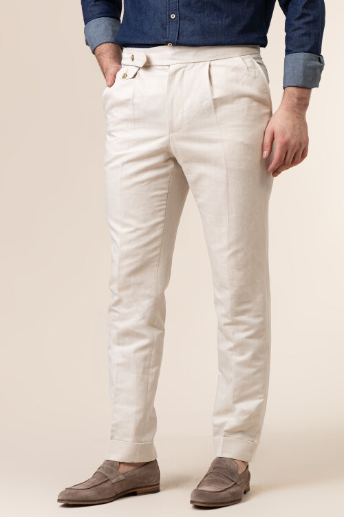 Spodnie Cavaliere 20SS21515_JERRY COMO_54 beżowy