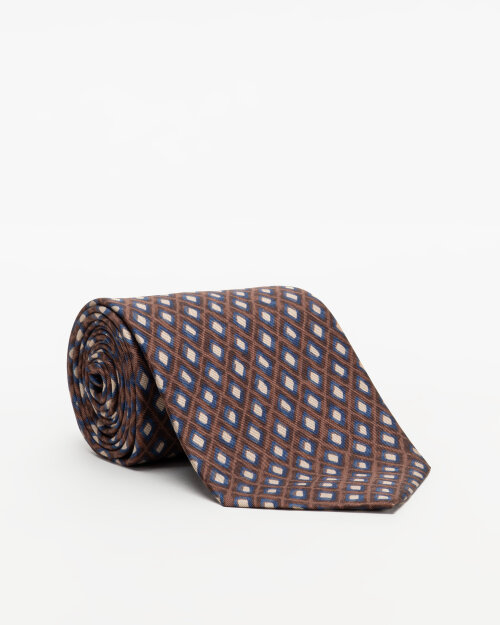 Krawat Oscar Jacobson 6580_5870_610 brązowy
