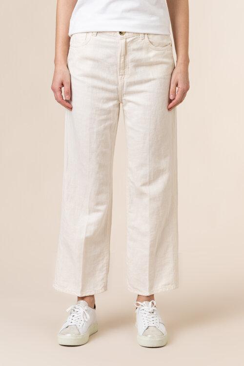 Spodnie Trussardi Jeans 56J00140_1T005194_W009 kremowy