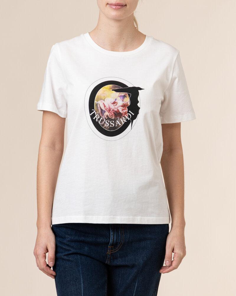 T-Shirt Trussardi  56T00342_1T005061_W009 biały - fot:2