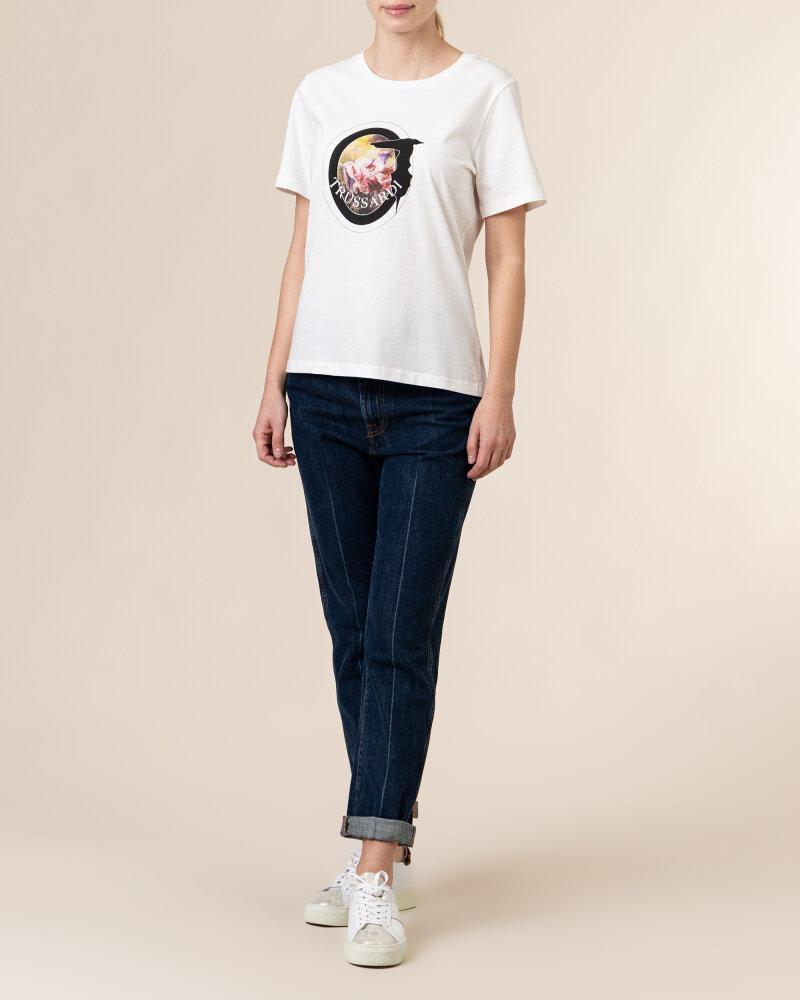 T-Shirt Trussardi  56T00342_1T005061_W009 biały - fot:5
