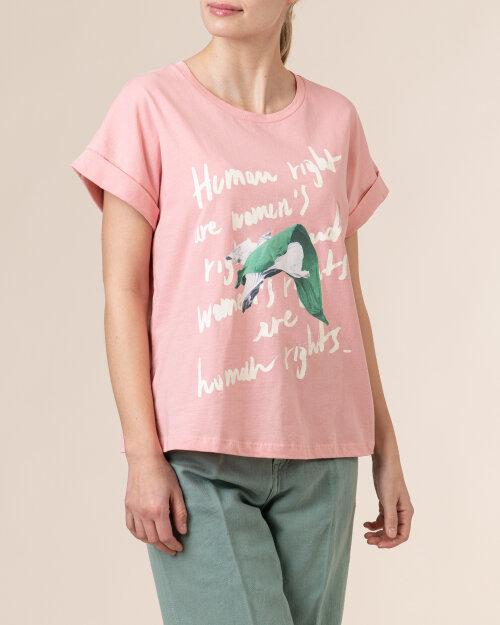 T-Shirt Trussardi  56T00375_1T005228_P040 różowy