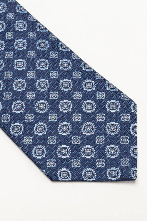 Krawat Eton A000_32903_29 niebieski