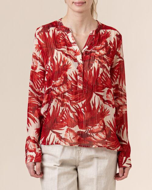 Koszula Lollys Laundry 21136_2022_FLOWER PRINT czerwony
