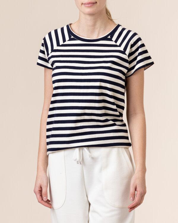 T-Shirt Lollys Laundry 21120_1035_DARK NAVY biały