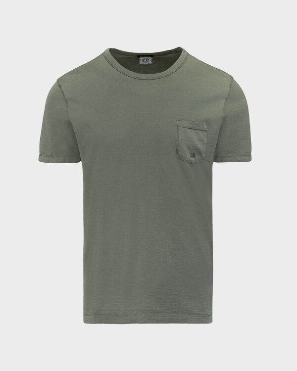 T-Shirt C.p. Company 10CMTS123A000444O_668 zielony