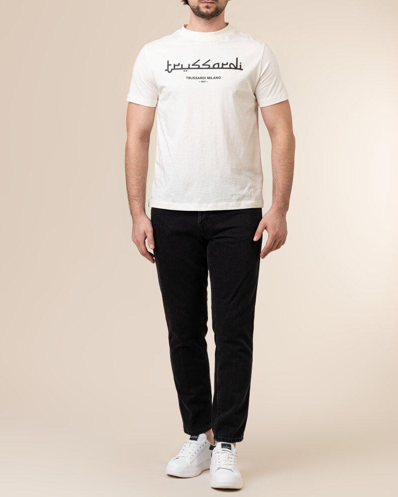 T-Shirt Trussardi  52T00484_1T005172_W004 kremowy - fot:5