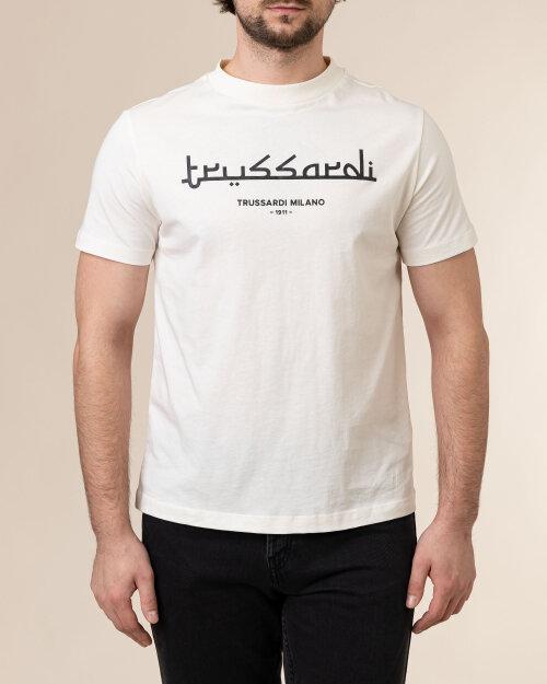 T-Shirt Trussardi  52T00484_1T005172_W004 kremowy