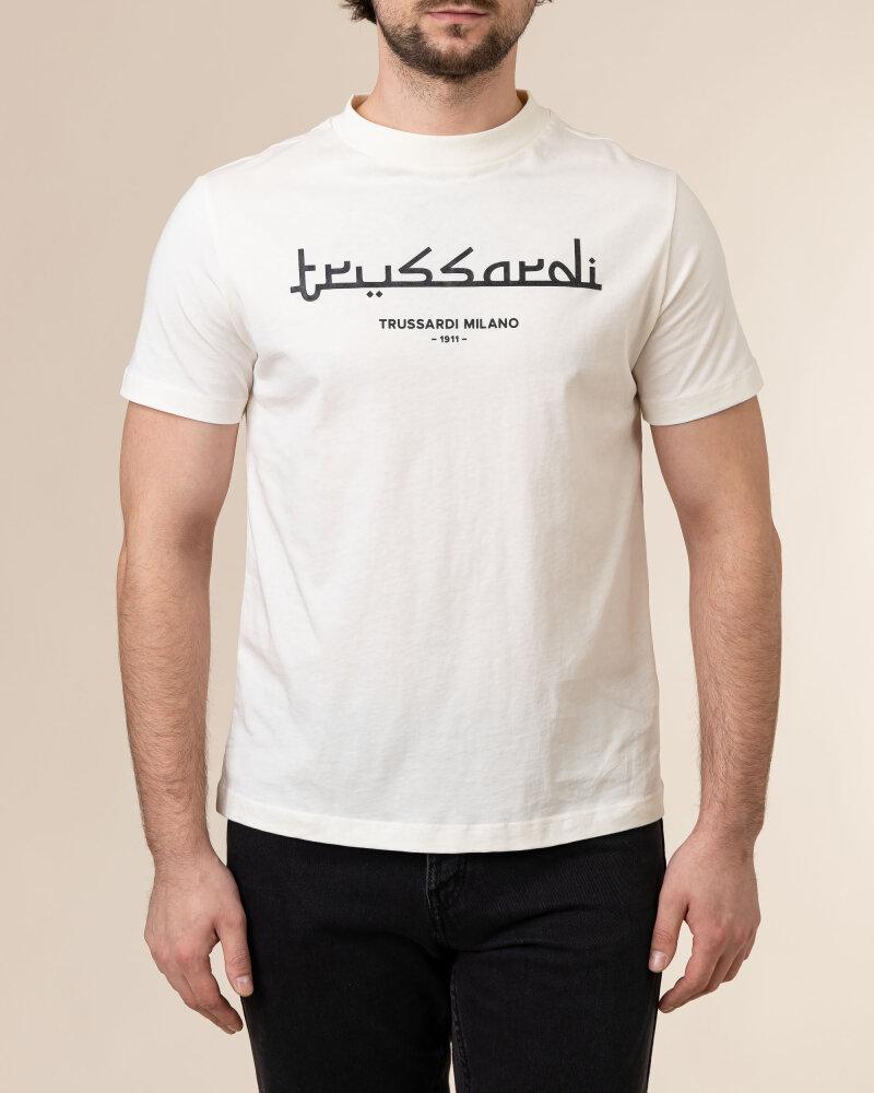 T-Shirt Trussardi  52T00484_1T005172_W004 kremowy - fot:2