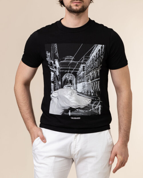 T-Shirt Trussardi  52T00459_1T005053_K299 czarny