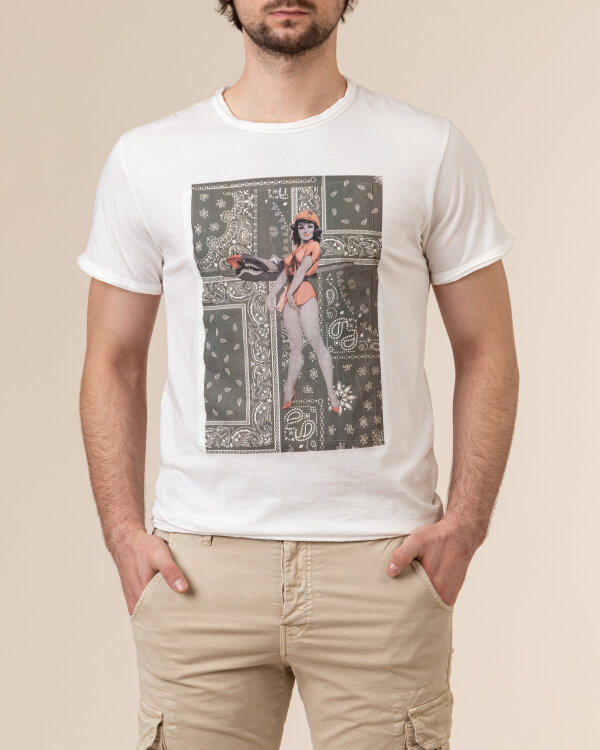 T-Shirt Bomboogie TM6975_JSEP_01 biały